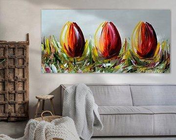 Tulpen Gemälde von Gena Theheartofart