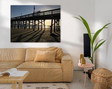 Newport Beach Pier van Marek Bednarek