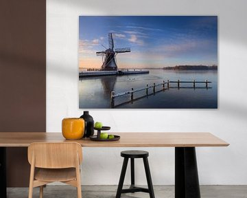 Winter windmill sur Sander van der Werf