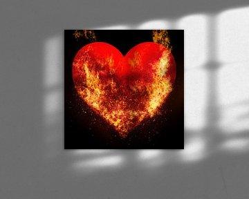 Burning love van Art by Jeronimo