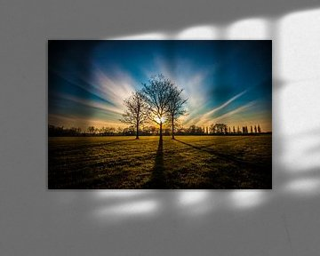 Zonsondergang Amersfoort van Brian Vijber