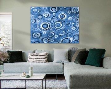 blaue Kreise sur Katrin Behr