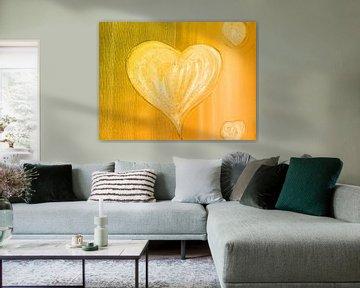 Herz orange sur Katrin Behr
