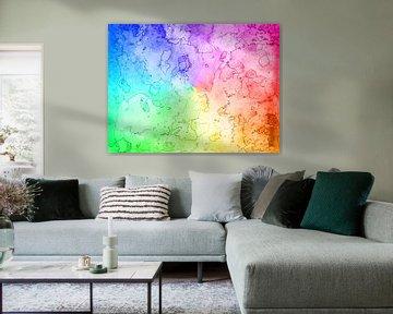 Seelen Landkarte Regenbogen sur Katrin Behr