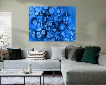 Zellen 2 - blau sur Katrin Behr