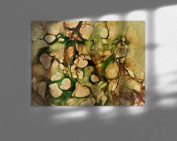 Zellen 2 - grün braun sur Katrin Behr