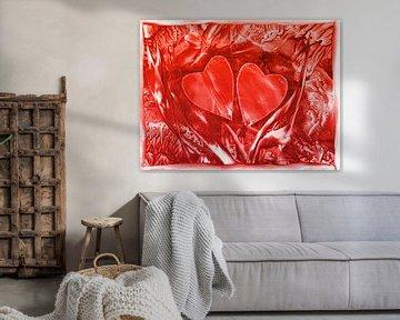Herzensverbindung - rot sur Katrin Behr