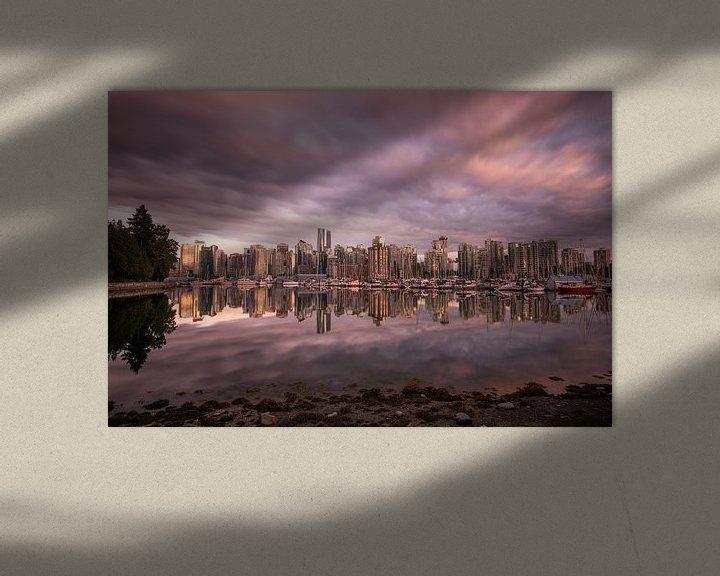 Sfeerimpressie: Vancouver Skyline van Ruben Van der Sanden