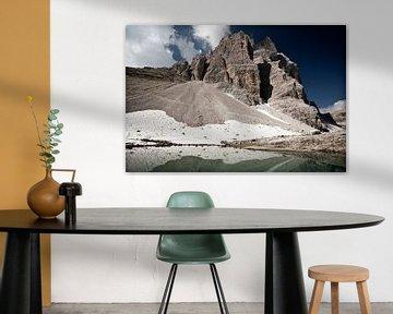 Mirror Lake Dolomites Italy van Ellen van Drunen