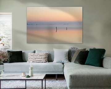 Mistige reflectie van Sander van der Werf