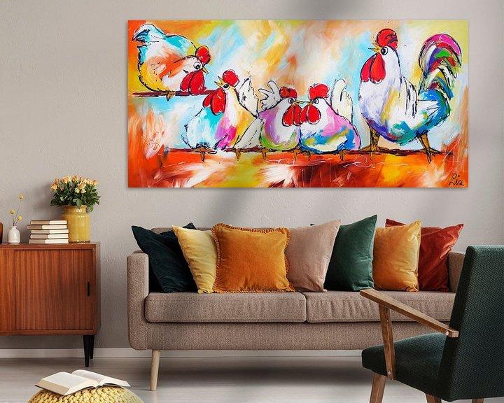 Beispiel: Hühner am Stiel von Vrolijk Schilderij