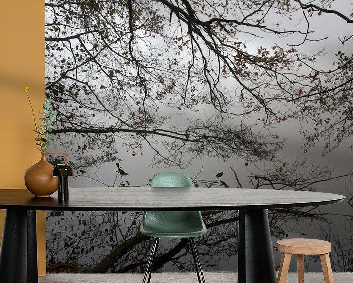 Sfeerimpressie behang: Mirror lake van Jelle Ursem
