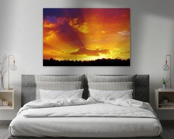 Zonsondergang van Lex Boon