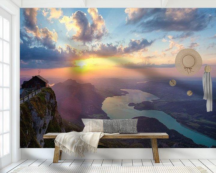 Sfeerimpressie behang: Hemelse poort bij zonsondergang van Silvio Schoisswohl