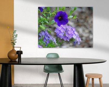 Blue Flowers von Wieja van der Kamp