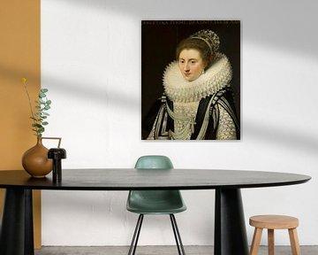 Porträt von Ernestine Yolande, Jan Anthonisz van Ravesteyn