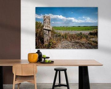 Hollands landschap met weilanden en wolkenlucht van Fotografiecor .nl