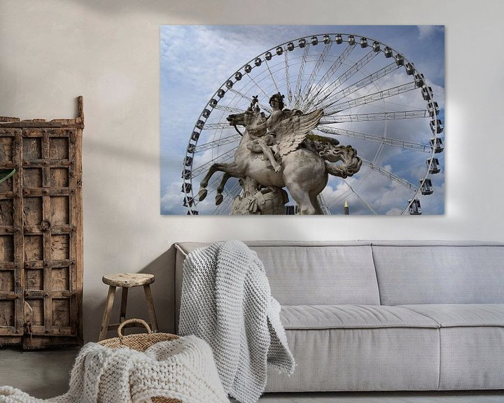 Sfeerimpressie: Parijs, reuzenrad, beeldhouwwerk van Carina Diehl