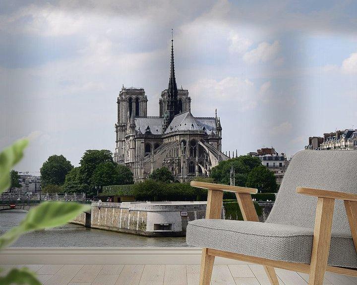 Sfeerimpressie behang: Notre Dame van Carina Diehl