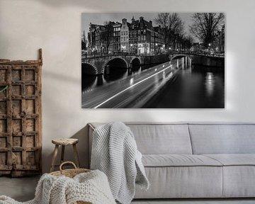 Boot Keizersgracht Amsterdam von Ronald Huiberse