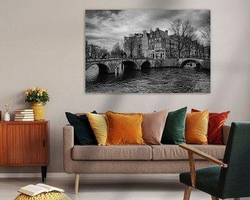 Een koude dag op de keizersgracht Amsterdam von Ronald Huiberse