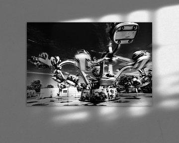 Krakenkarussell in Schwarz-Weiß von Wim Stolwerk