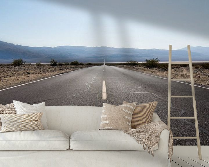 Beispiel fototapete: The road ahead is empty von Meneer Bos