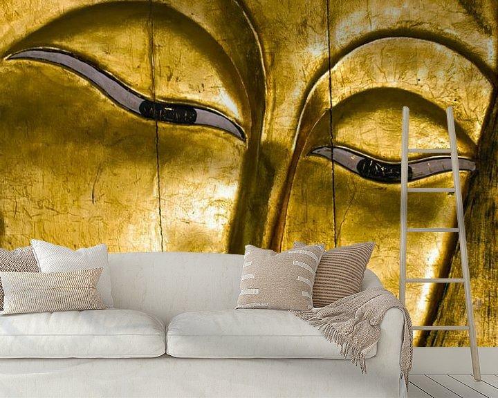 Sfeerimpressie behang: Boeddha van Kirsten Warner