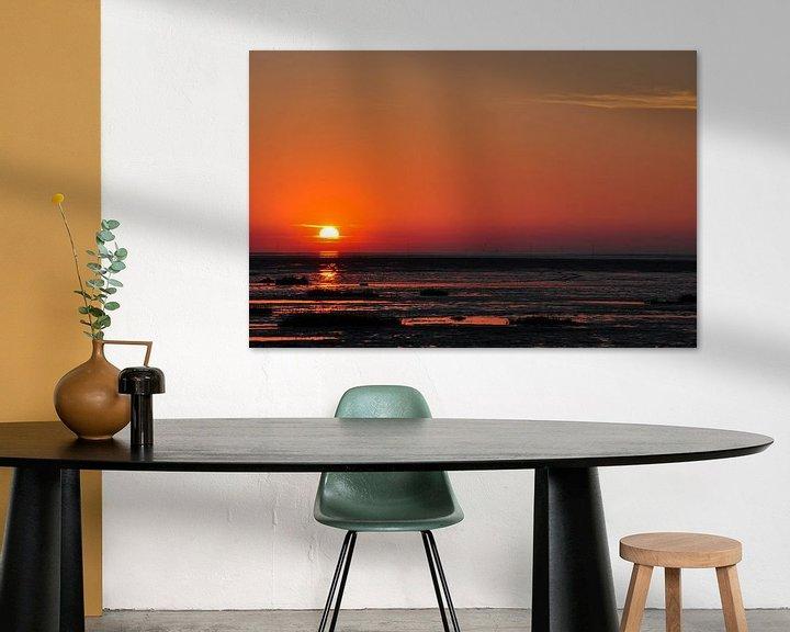 Sfeerimpressie: Zonsondergang aan zee van Lex Schulte