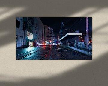 Tram Stop by Night van Meneer Bos