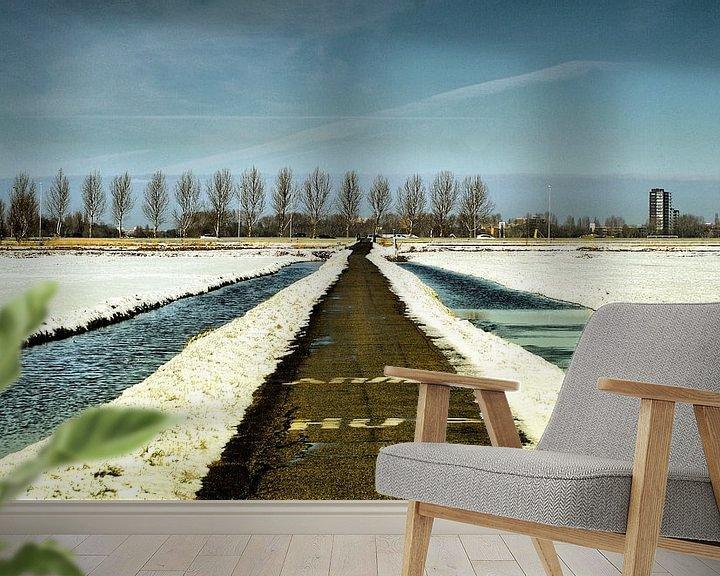 Sfeerimpressie behang: Winterpad van ZEVNOV .