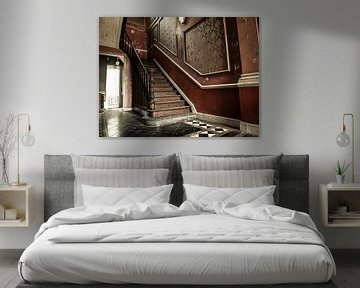 Trap in Verlaten Hotel, België von Art By Dominic