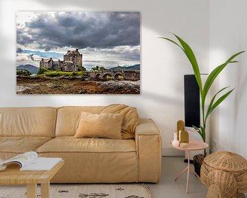 Eilean Donan in de Wolken van Vincent van den Hurk