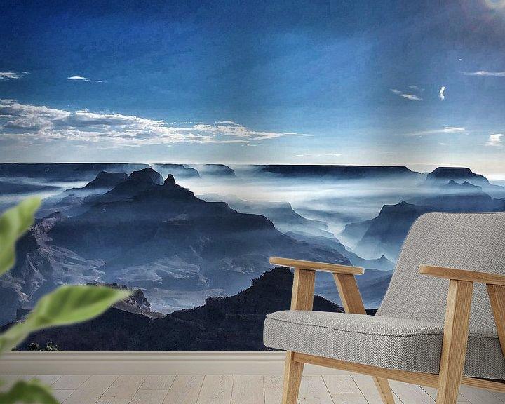Sfeerimpressie behang: Goede morgen, Crand Canyon van SPOOR Spoor