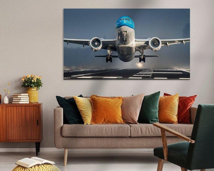 Sfeerimpressie: KLM Boeing 777 op Schiphol van Dennis Janssen