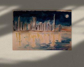 City by the river von Bert Otto