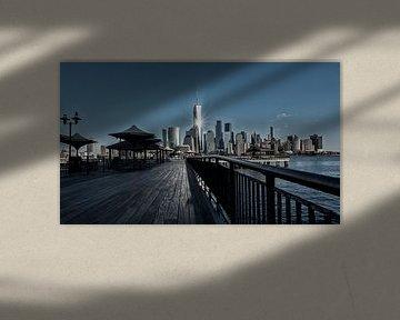 New York Skyline World Tradecenter van Edward van Hees