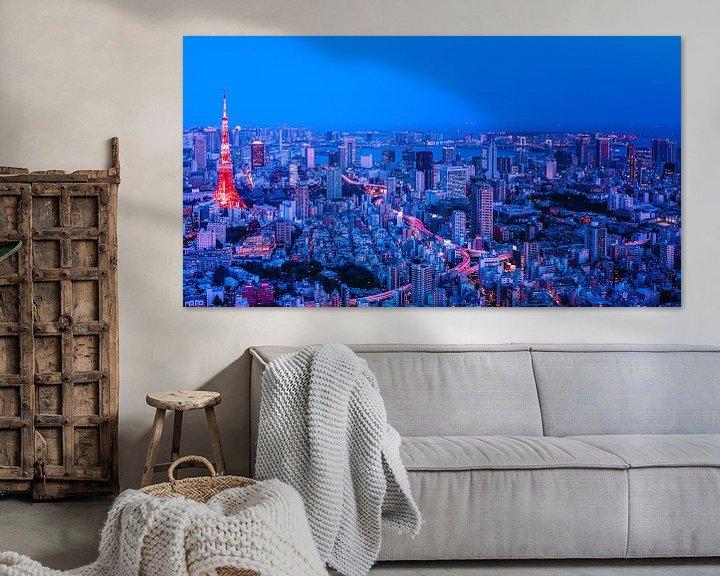 Beispiel: Tokyo in Red and Blue von Sander Peters Fotografie