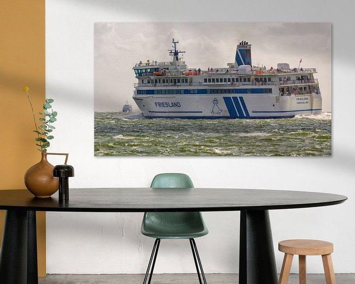 Sfeerimpressie: Veerboot Frieslan en snelboot Tiger van Roel Ovinge