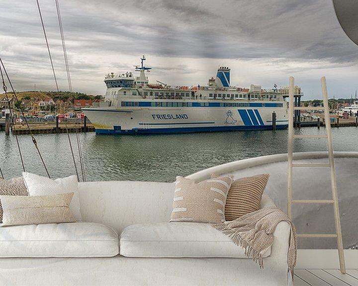 Sfeerimpressie behang: Veerboot Friesland van Roel Ovinge