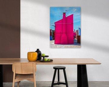 One pink house at Burano von brava64 - Gabi Hampe
