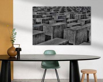 Judengedenkmal abstract B&W - Berlin von Patrick LR Verbeeck