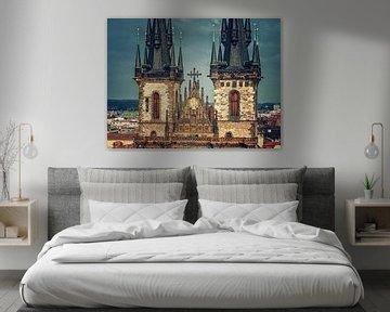 Prague - Týn Church van Alexander Voss