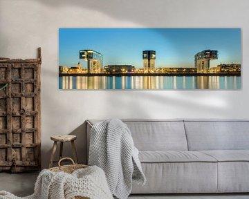 Kranhäuser in Köln Panorama von Michael Valjak
