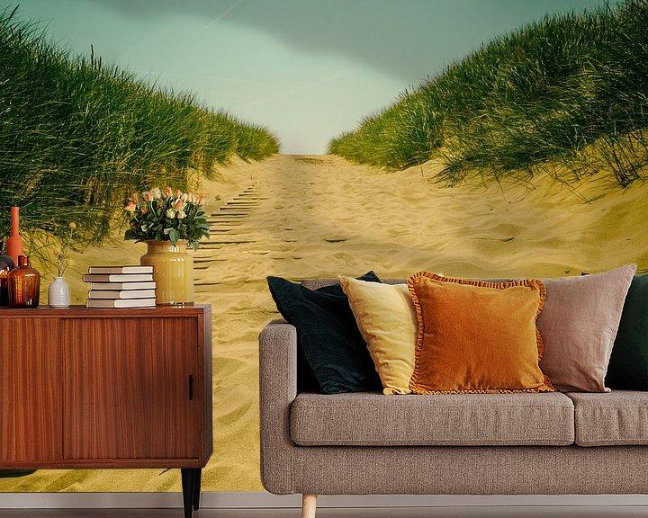 Sfeerimpressie behang: sandyroad van Lex Schulte