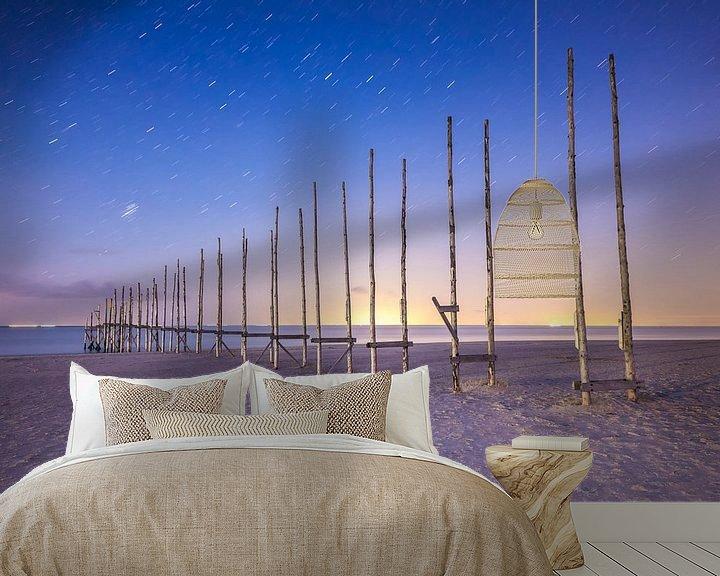 Sfeerimpressie behang: It's raining stars van Wad of Wonders