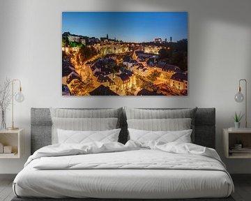 Luxemburg in de avond van Michael Valjak