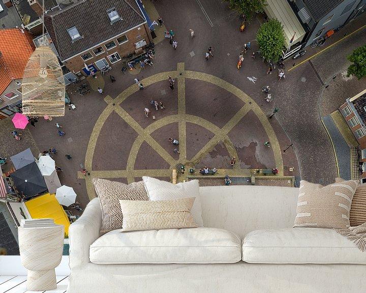 Sfeerimpressie behang: Torenplein van Roel Ovinge