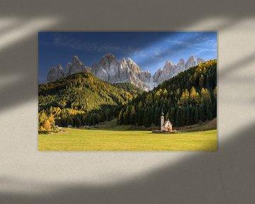 Kirche im Villnößtal in Südtirol von Michael Valjak