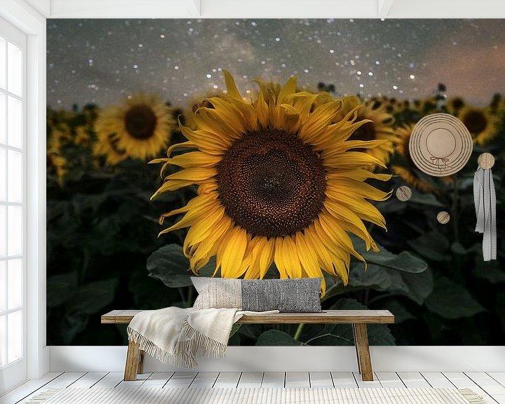 Beispiel fototapete: Sunflowers vs Milkyway von Patrick Noack